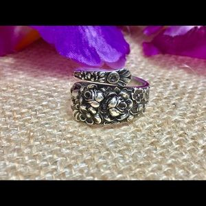 Antique Sterling Silver Ring Handmade Vintage